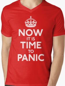 Now It Is Time To Panic Mens V-Neck T-Shirt