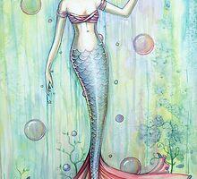 """""""Bubbles"""" Mermaid Art by Molly Harrison by Molly  Harrison"""