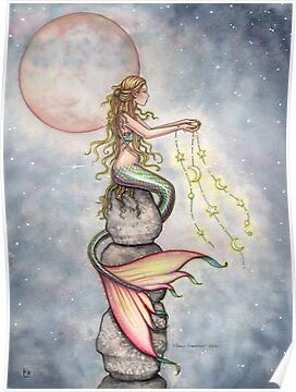 &quot;Star Filled Sky&quot; Mermaid Art by Molly Harrison by Molly  Harrison