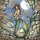 """Hidden Cavern"" Mermaid Art by Molly Harrison by Molly  Harrison"