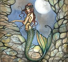 """Hidden Cavern"" Mermaid Art by Molly Harrison by Molly  Harrison"