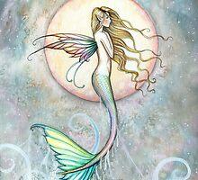 """""""First Taste of Sky"""" Mermaid Art by Molly Harrison by Molly  Harrison"""