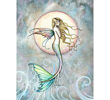 """""""First Taste of Sky"""" Mermaid Art by Molly Harrison Photographic Print"""