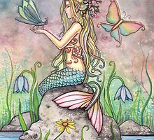 """Creekside Magic"" Mermaid Art by Molly Harrison by Molly  Harrison"