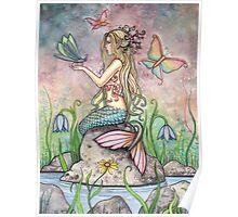 """Creekside Magic"" Mermaid Art by Molly Harrison Poster"