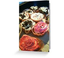 Delicious looking cakes! Greeting Card