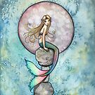 """Sinking Moon"" Mermaid Art by Molly Harrison by Molly  Harrison"