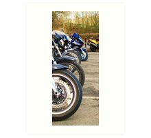 Motorbikes! Art Print