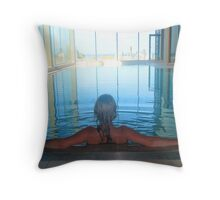 Serene relaxation Throw Pillow