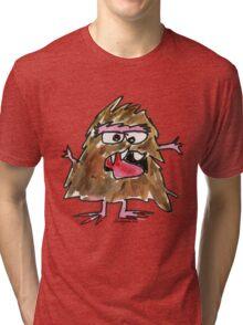 Funny Cartoon Monstar 034 Tri-blend T-Shirt