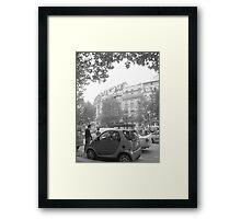 France and a Smart Car Framed Print