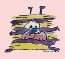 Funny Cartoon Monstar 039 Kids Tee