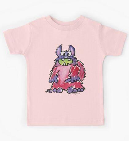 Funny Cartoon Monstar Monster 040 Kids Tee