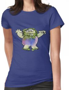 Funny Cartoon Monstar Monster 042 Womens Fitted T-Shirt