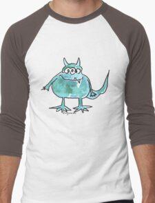Funny Cartoon Monstar 045 Men's Baseball ¾ T-Shirt