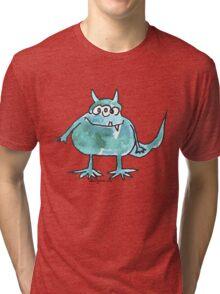 Funny Cartoon Monstar 045 Tri-blend T-Shirt
