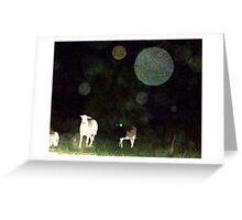 Some Folks Think That These Orbs Are Not There Greeting Card