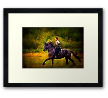 A Knight In Shining Armour Framed Print