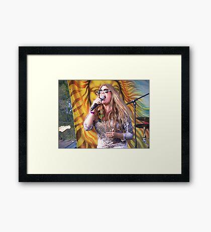 Blond Enthusiasm Framed Print