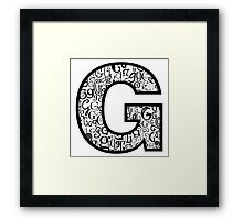 Big g, white background Framed Print