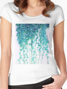 Average Absence #redbubble Women's Fitted Scoop T-Shirt