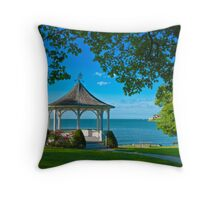 Niagara River Gazebo Throw Pillow