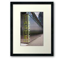 Taste Restaurant Framed Print