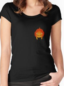 Calcifer T-Shirt  Women's Fitted Scoop T-Shirt