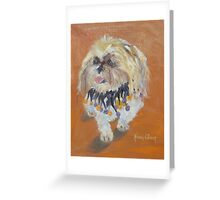 Muggins dog portrait Greeting Card