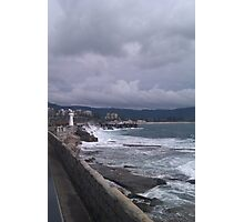 Light house at Wollongong Harbour Winters Morning  Photographic Print