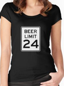 BEER LIMIT 24 Women's Fitted Scoop T-Shirt