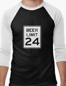 BEER LIMIT 24 Men's Baseball ¾ T-Shirt