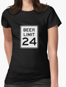 BEER LIMIT 24 Womens Fitted T-Shirt