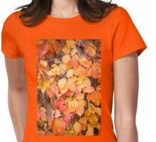 vine yellow red leaves  Womens Fitted T-Shirt