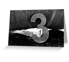 3...It's the Magic Number Greeting Card