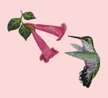 Hummingbird T-Shirt One Piece - Long Sleeve