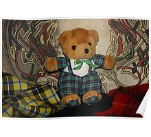 Drummer Bear of a Celtic Band Poster