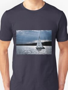 Blue moon light night sailing T-Shirt