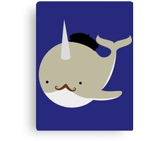 Dapper French Narwhal Canvas Print