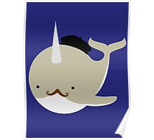 Dapper French Narwhal Poster
