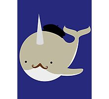 Dapper French Narwhal Photographic Print