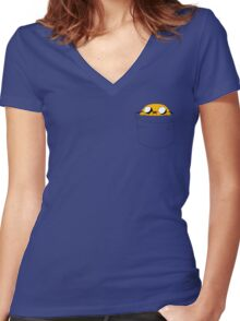Pocket Jake Women's Fitted V-Neck T-Shirt