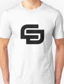 CD logo Black V-Neck. T-Shirt
