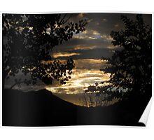 Spherical Sunset Poster