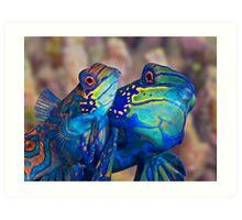 Mating Mandarins Art Print