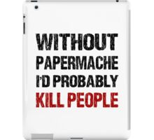 Funny Papermache Shirt iPad Case/Skin
