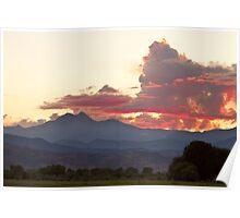 Twin Peaks Longs Meeker August Sunset Poster
