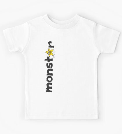 Monster Yellow Star Text Graphic  Kids Tee