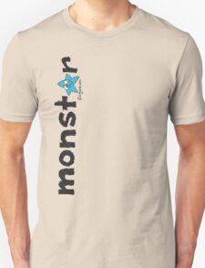 Monster Blue Star Text Graphic  T-Shirt