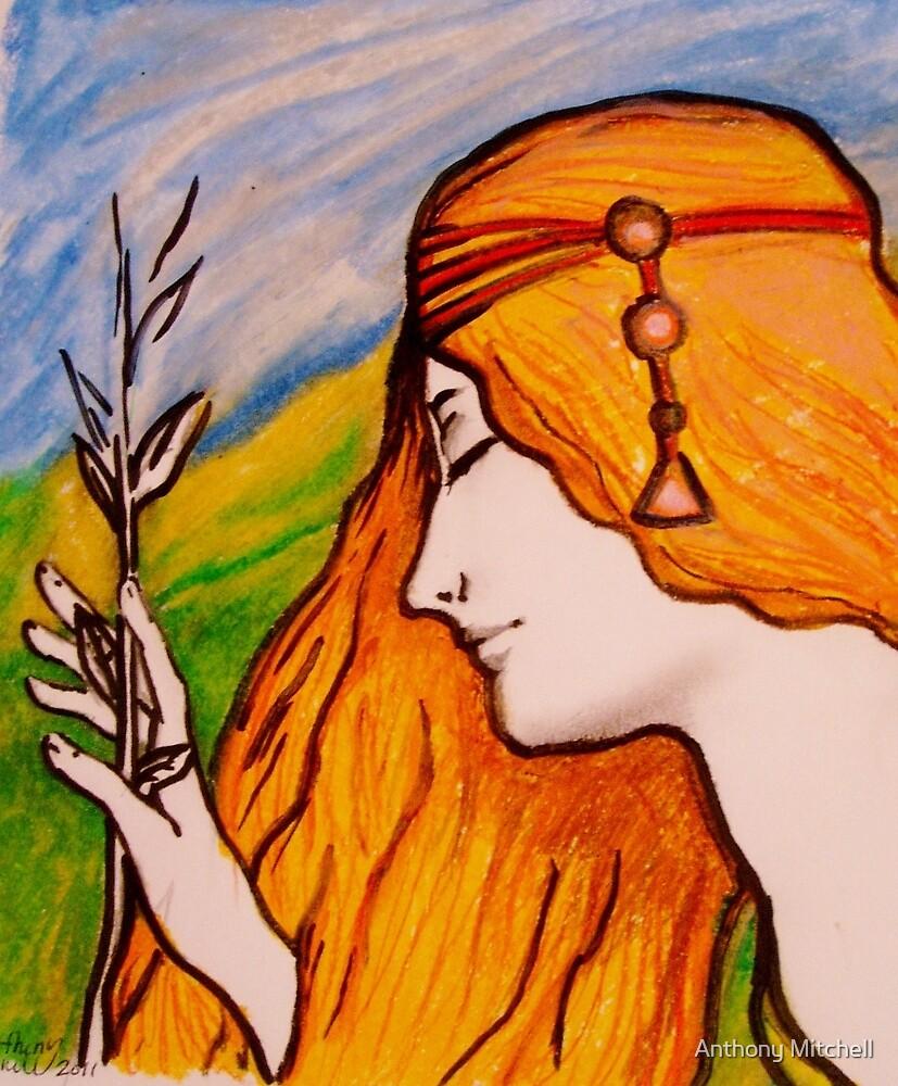 Female Art Nouveau - Anthony Mitchell by Anthony Mitchell